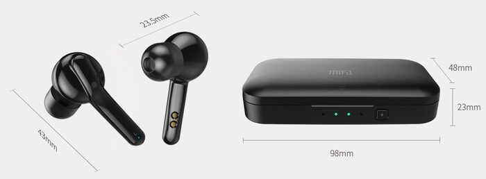 dimensions ecouteurs bluetooth sans fil mifa x3