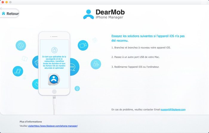 interface logiciel dearmob iphone manager