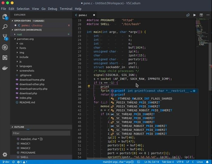 vscodium macos alternative vscode