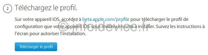 telecharger profil ios 13 iphone