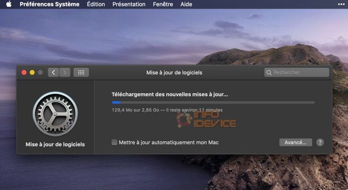 mise a jour macos mojave 10.14.6