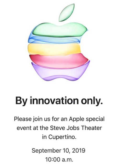 invitation keynote apple iphone 11 2019
