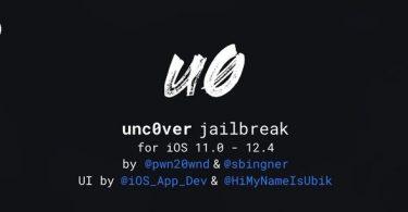 jailbreak unc0ver ios 12.4