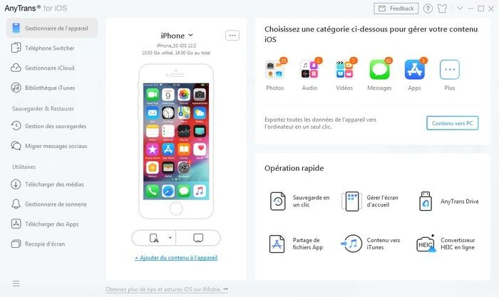 Anytrans 8 Gestionnaire Iphone 11 Pro