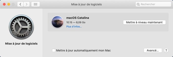 Mise A Jour Supplementaire Macos Catalina 10.15