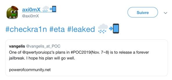 Eta Jailbreak Checkra1n Release Date