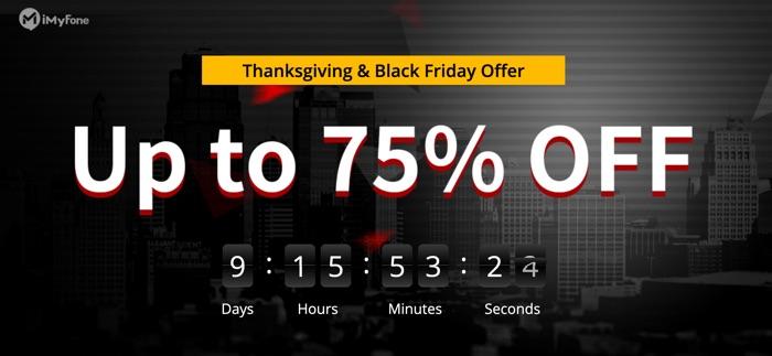 Imyfone Black Friday Et Thanksgiving