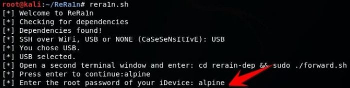 Mot De Passe Root Downgrade Iphone Avec Rera1n