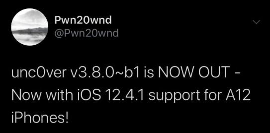 Pwn20wnd Jailbreak Unc0ver Ios 12.4.1