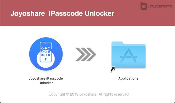 Installer Joyoshare Ipasscode Unlocker
