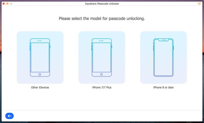 Selectionner Type Iphone Joyoshare Ipasscode Unlocker