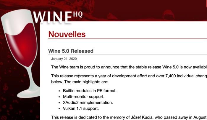 Wine 5 Disponible Pou Rlinux Macos Android