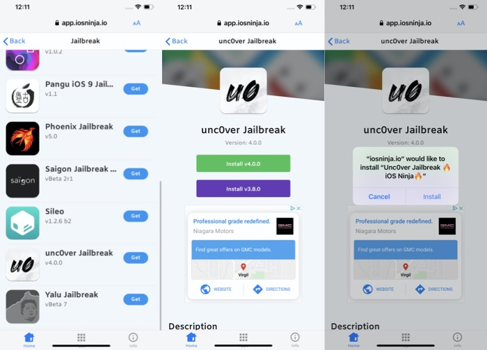 Installer Jailbreak Unc0ver Iphone 11 Ios 13 Iosninja