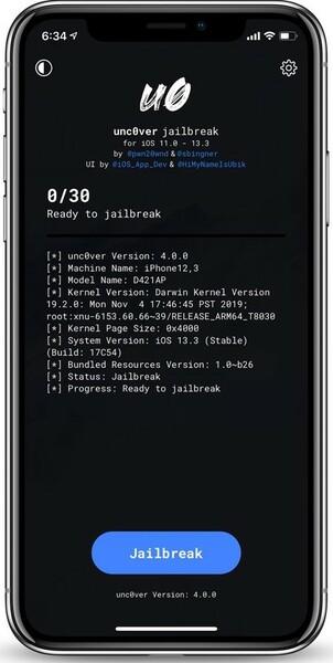 Jailbreak Iphone Ios 13.3 Unc0ver 4.2.1