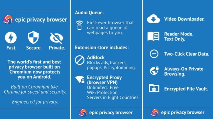 Navigateur Epic Privacy Browser