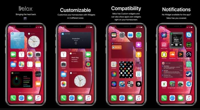 Tweak Velox Reloaded Widget Iphone