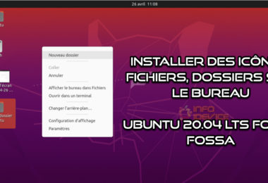 Installer Icones Bureau Gnome Ubuntu 20.04