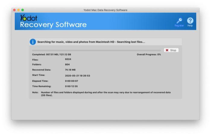 Yodot Mac Data Recovery Recherche Photos Supprimees