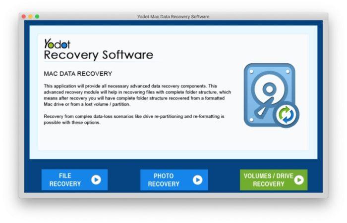 Logiciel Yodot Mac Data Recovery
