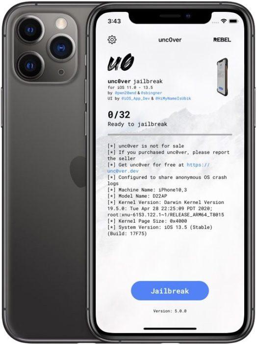 Tutoriel Jailbreak iOS 13.5 Unc0ver Iphone 11