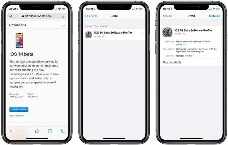 Installer Profil Beta Ios 14 Sur Iphone