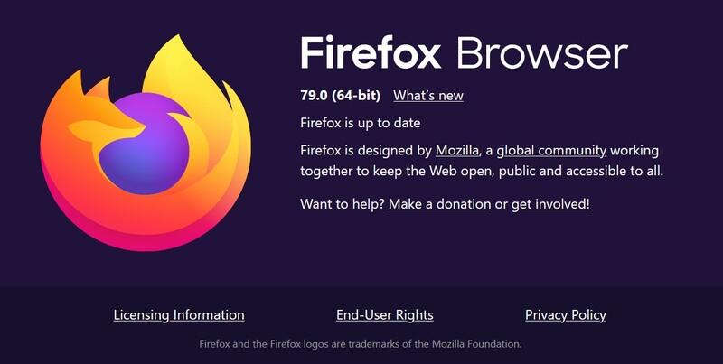 Navigateur Mozilla Firefox 79