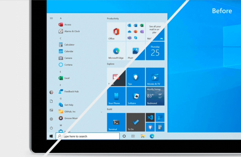 Nouveau Menu Demarrer Windows 10 Insider
