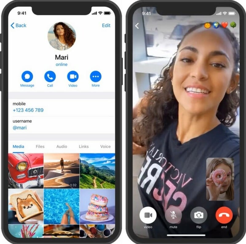 Appel Video Telegram