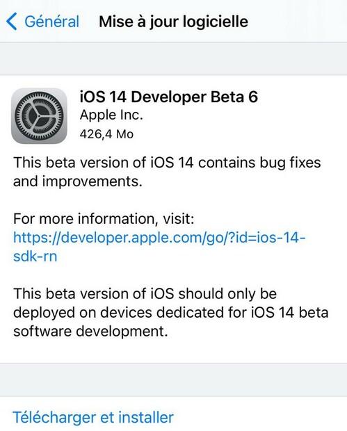 Ios 14 Beta 6 Iphone Disponible