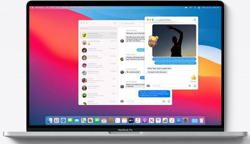 Nouvelle App Messages Macos Big Sur
