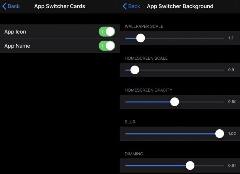 Parametres Avances Tweak App Switcher Controller