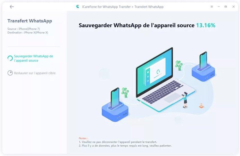 Icarefone Whatsapp Transfer Sauvegarder Iphone