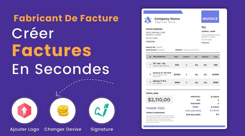 Invoice Maker Createur De Facture