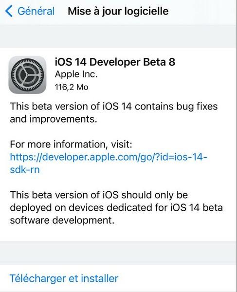 Ios 14 Beta 8