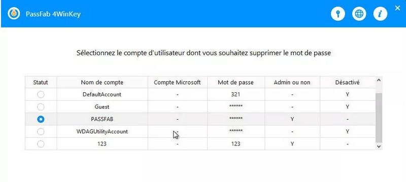 Passfab 4winkey Modifier Mot De Passe Windows