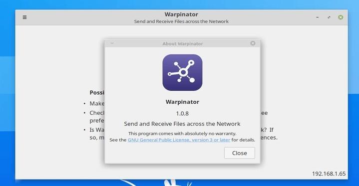Warpinator Webapp Manager