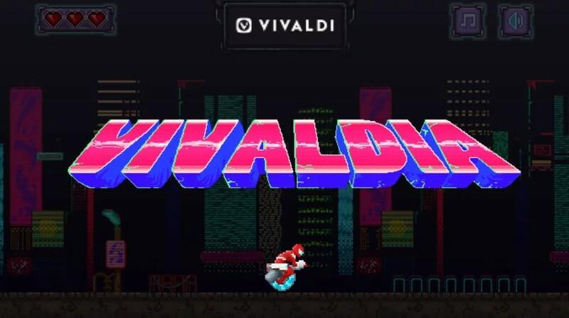 Vivaldia Jeu Retro Arcade Navigateur Vivaldi