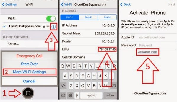 Bypass Icloud Iphone Wifi Dns