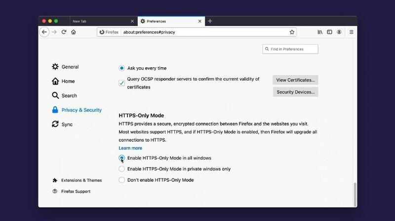 Firefox 83 Mode Https Only