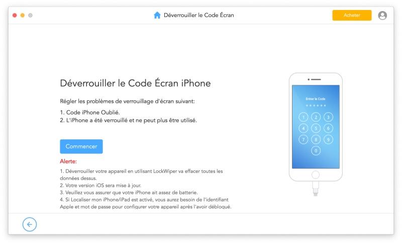 Imyfone Lockwiper Deverrouiller Code Ecran Iphone