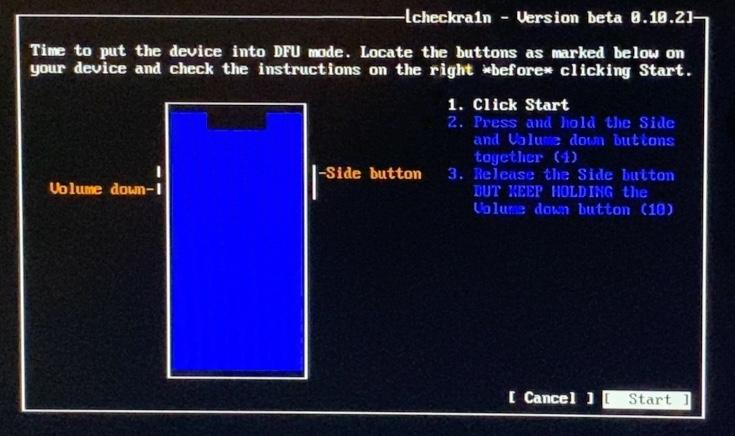 Checkra1n Bootra1n Mode Dfu