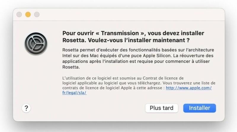 Installer Rosetta Sur Mac Apple Silicon