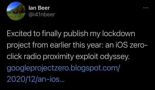 Vulnerabilité Ios 13.5 Ian Beer