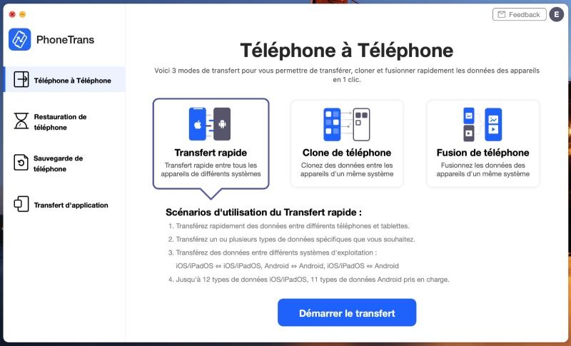 Phonetrans Transfert Telephone A Telephone