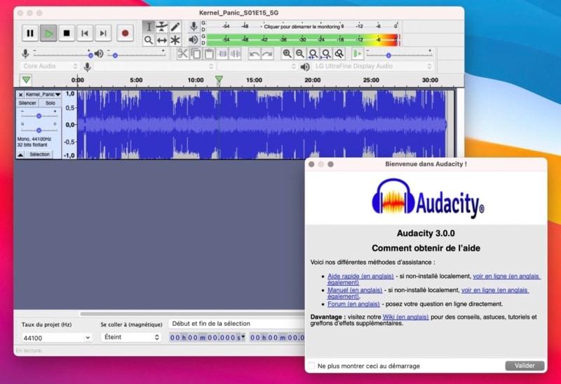 audacity nouveau format aup3