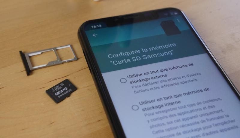 configurer espace de stockage smartphone