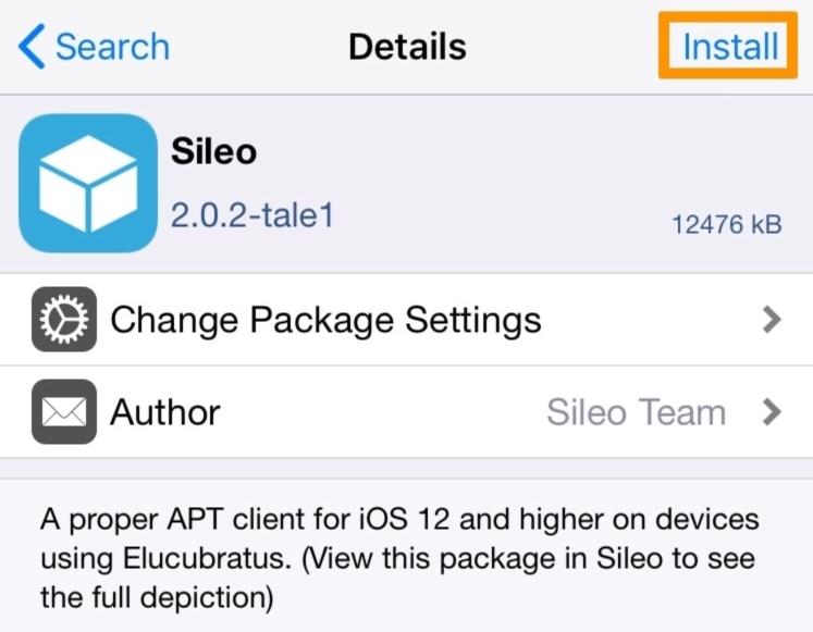 installer sileo avec jailbreak checkra1n