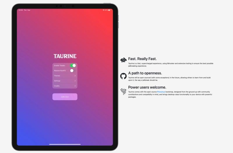 jailbreak taurine ios 14 version 1.0.4