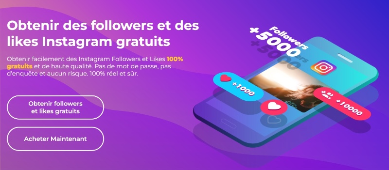 obtenir des followers et likes instagram gratuits avec getinsta