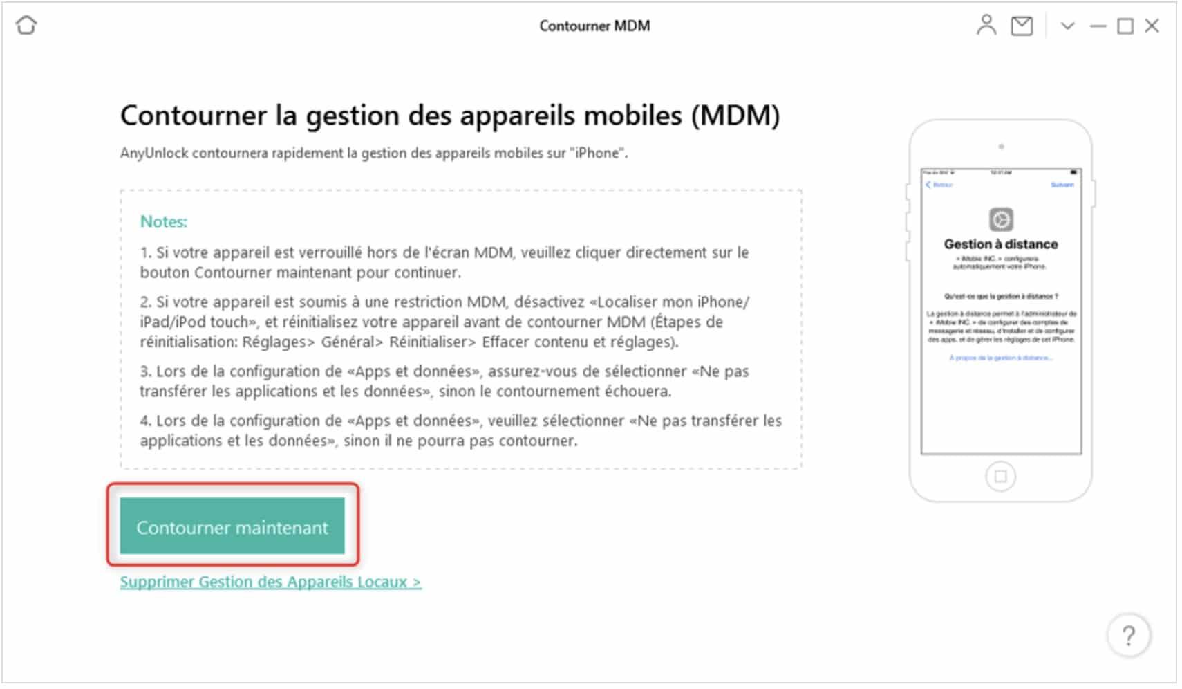 contourner mdm gestion des appareils mobiles apple
